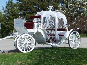 feel pampered in our elegant Cinderella carriage